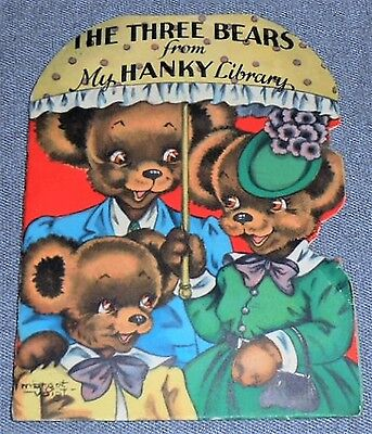 Very Rare VINTAGE - MY HANKY LIBRARY - The Three Bears GRAPHICS by MARGOT VOIGT