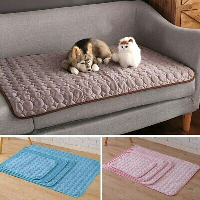 Dog Cooling Mat Pet Cat Chilly Non-Toxic Summer Cool Bed Pad Cushion Blanket