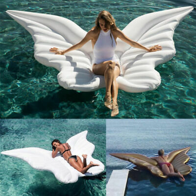 Beach Bed Toy Giant Inflatable Angel Wings Butterfly Swimming Pool Float Lounger