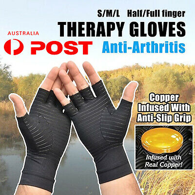 AU Pair Arthritis Gloves Compression Joint Finger Pain Relief Hand Support Brace