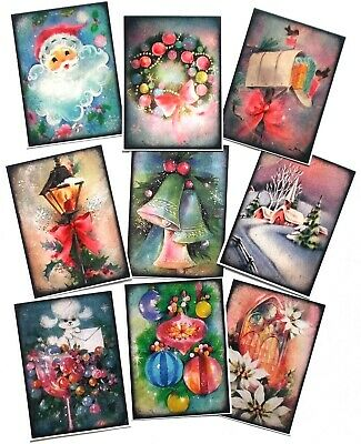 Christmas Card Toppers Glossy Mixed - A Great Variety X 9 Make Easy Cards