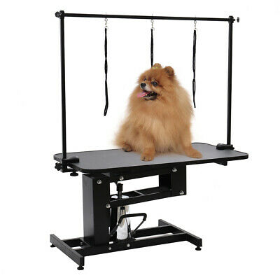 Extra Large Heavy Duty Hydraulic Dog Bath Grooming Table Professional H Bar &Arm