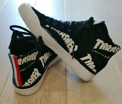 HUF x Thrasher TDS Classic Hi Skate Shoes - Black SIZE UK 7 streetwear trainers