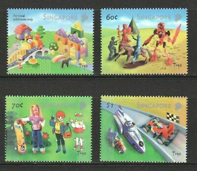 Singapore 2002 Toys (Lego Block) Comp. Set Of 4 Stamps Sc#1010-1013 In Mint Mnh