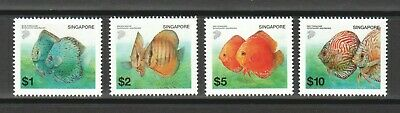 Singapore 2002 Tropical Freshwater Fish High Value Comp. Set Of 4 Stamps Mint
