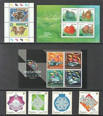 Singapore 2002 Year Set Collection Of All 10 Issues Total 72 Stamps In Mint Mnh