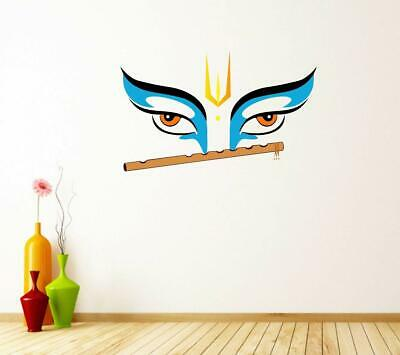 50ded05cac LORD KRISHNA PLAYING Flute Under Tree Vinyl Decal Wall Sticker Home ...