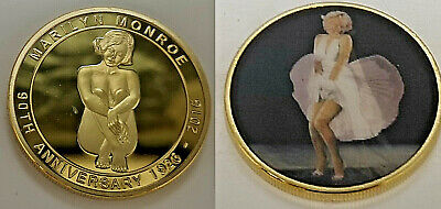 Marilyn Monroe Gold 3D Coin Hologram New York 90th Anniversary 1926 2016 Legend