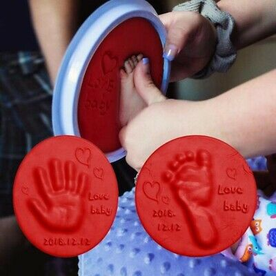 2PCS Baby Safe Inkless Touch Footprint Handprint Ink Pad Mess Free Commemorate