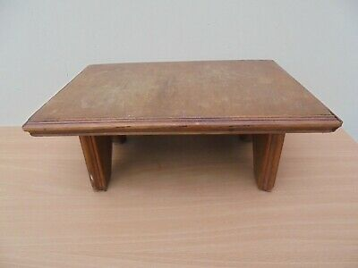 Vintage French wooden footstool, church prayer kneeler, home made rustic stool