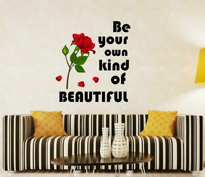 Be Your Own Kind Of Beautiful Wall Decal Pvc Vinyl Living Room Wall Sticker