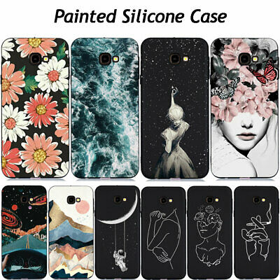 For Samsung J4 J6 Plus 2018 J3 J5 J7 2017 Painted Soft Silicone Phone Case Cover