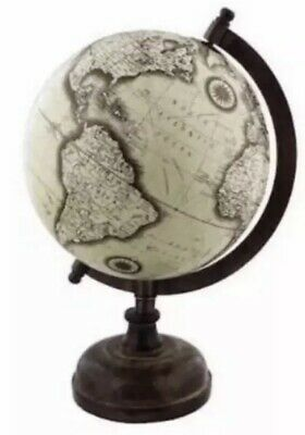 Large Vintage Globe - 28 CM High - Wooden Vintage Style Gift Present World Map