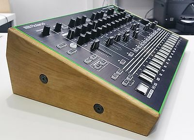 Solid Oak Wooden Stand End Cheeks For Roland Aira Tr8  Drum Machine