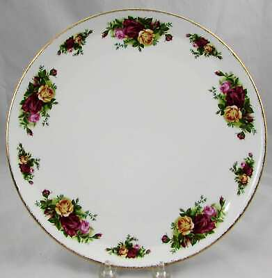 "Royal Albert Old Country Roses Cake Plate 11.25"" Mint"