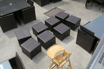 RATTAN GARDEN FURNITURE Footstool PRICE FOR ONE PIECE