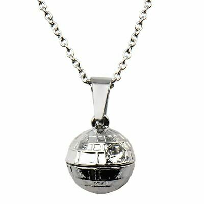 Star Wars Death Star 3D Pendant Necklace with Chain - Boxed Stainless Steel