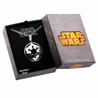 Star Wars Galactic Empire Cut-Out Pendant Necklace - Boxed Stainless Steel