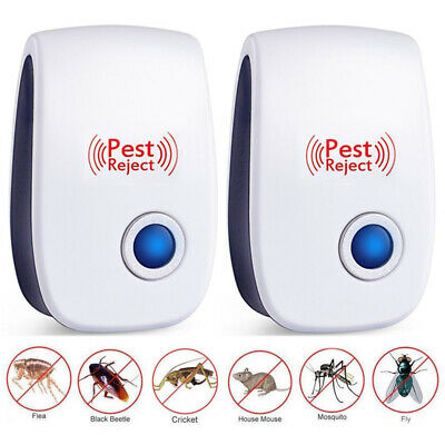 2x Ultrasonic Pest Control Repeller Reject Mosquito Insect Electronic US Plug In