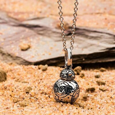 Star Wars BB-8 Droid 3D Pendant Necklace with Chain - Boxed Sterling Silver
