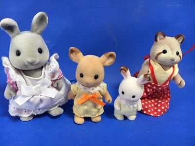 Sylvanian Families Japan Vintage Red Raccoon Family