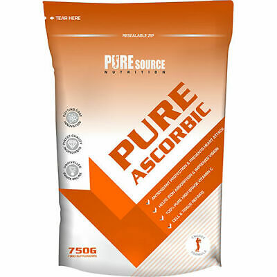 Pure Source Nutrition Acido Ascorbico Alta Qualità 100% Vitamina C Polvere 750gr