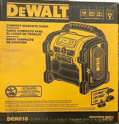 DeWALT DCR018 12V/18V/20V Worksite Jobsite Compact Radio NEW