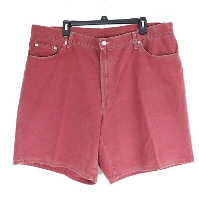 Polo Ralph Lauren Mens 38 Authentic Dungarees Vintage Shorts Red Made in USA Vtg