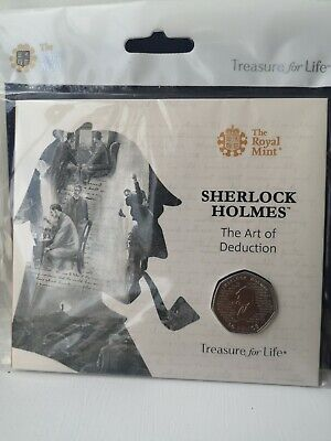 2019 Sherlock Holmes 50P Coin Brilliant Uncirculated Royal Mint Sealed Pack