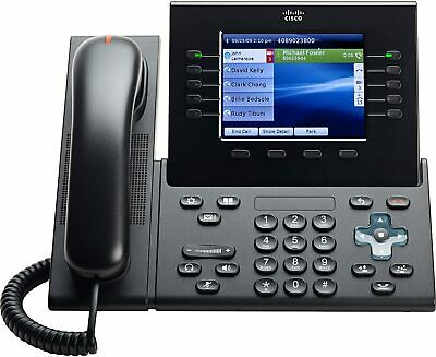 Cisco 8961 CP-8961 IP Phone, Refurbished, With New Handset, 1 Yr Warranty