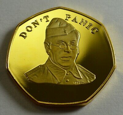 Brand New BREXIT Gold Commemorative 'DON'T PANIC' - Dads Army Jones Clive Dunn