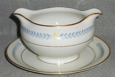 Meito ARCADIA PATTERN Gravy Boat w/Underplate MADE IN OCCUPIED JAPAN