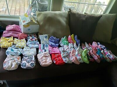 Girl Cloth Diaper Lot With Accesories