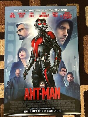 Ant-Man Original Movie Poster 27X40 Double Sided U.S. Final 2015 Marvel