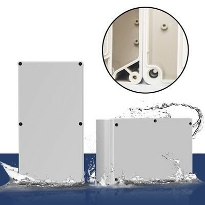 Plastic Waterproof Electronic Project Box Enclosure Cover CASE White Box Ni #sj