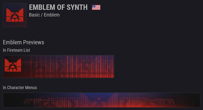 Destiny 2 | Emblem of Synth Code | Instant Delivery