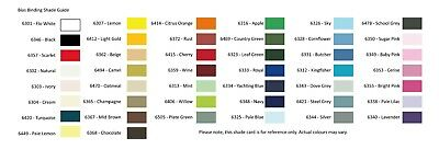 Cotton Bias Binding 44 Colours Widths 16mm or 25mm