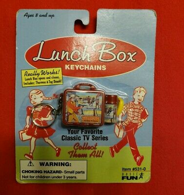 Gunsmoke Vintage Novelty Mini Lunchbox Keychain 1998 Basic Fun NEW