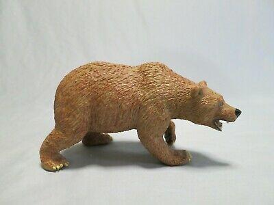 NIP AAA 96652SIT Brown Grizzly Bear Cub Sitting Model Toy Animal Figurine
