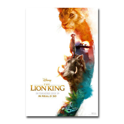 The Lion King Poster 2019 Movie Live Action REALM Art Silk Canvas Poster 24x36''
