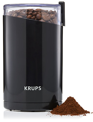 KRUPS F203 Electric Spice and Coffee Grinder with Stainless Steel Blades, 3 oz /