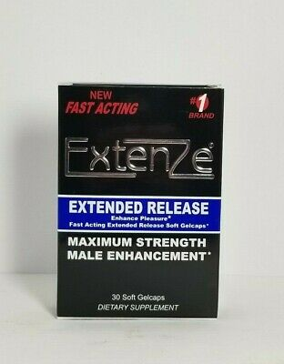 ExtenZe Extended Release Max Strength Male Enhancement 30 Supplement Exp 01/20+