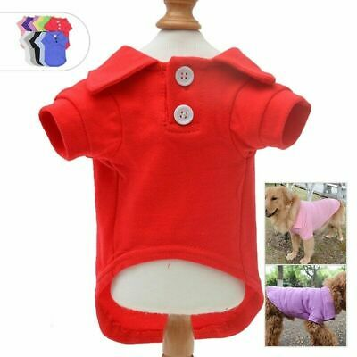 Pet Puppy Dog Apparel Clothes Polo T shirts for Small Medium Large dogs