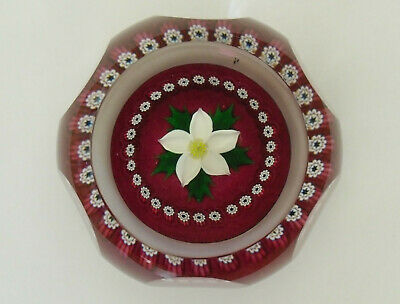 "Limited Edition Caithness ""Christmas Rose"" Paperweight (105/500) - <2 3/4"""