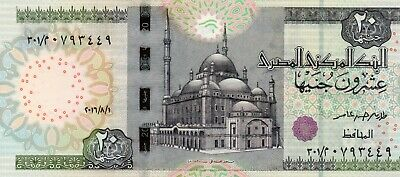 EGYPT 20 Pounds 2016 P65 1/8/2016 UNC Banknote