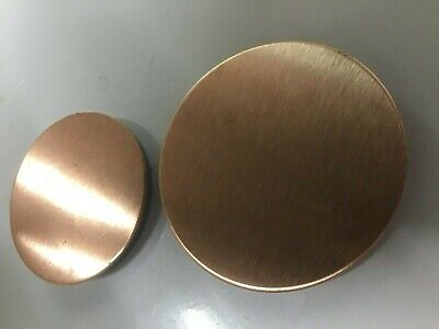 PURE 99.9% Solid Copper Metal Discs Disks 43mm 50mm 60mm 80mm Satin Blanks