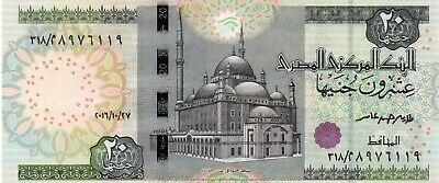 EGYPT 20 Pounds 2016 P65 27/10/2016 UNC Banknote