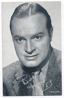 "Bob Hope Penny Arcade Vending Machine Card 3  3/8"" x 5 3/8""-1950s"