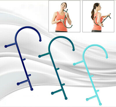 1Pcs Trigger Point Self Massage Stick Hook Theracane Body Muscle Relief Original