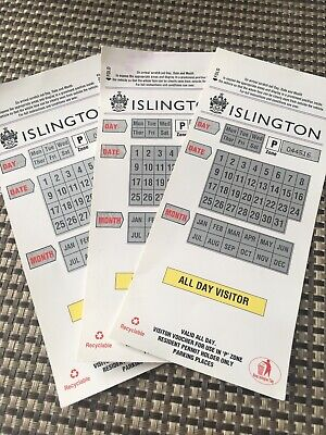 Islington Parking Voucher For All Day Zone Px3